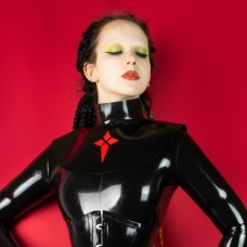 Heavy rubber collar with ornament model.03