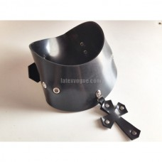 Heavy rubber collar with pendant CROSS model.07