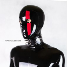 Wide black heavy rubber choker with spikes model.21