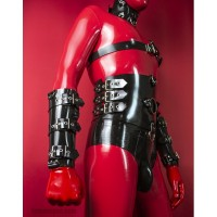 Heavy rubber wristbands with buckles model.13