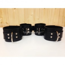 Heavy rubber set wrist and ankle cuffs model.91