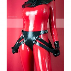 Heavy rubber panties with straps JUDY - model.08