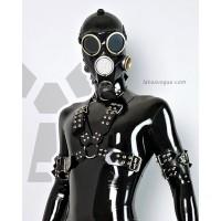 Wide heavy rubber chest harness ZOAN - model.10